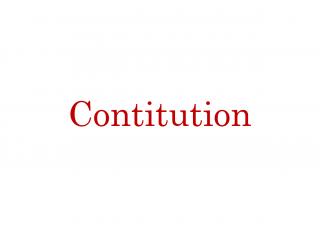 Contitution